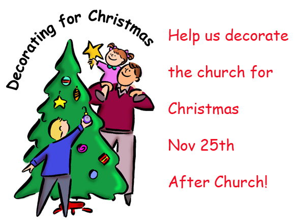 Help Decorate the Church