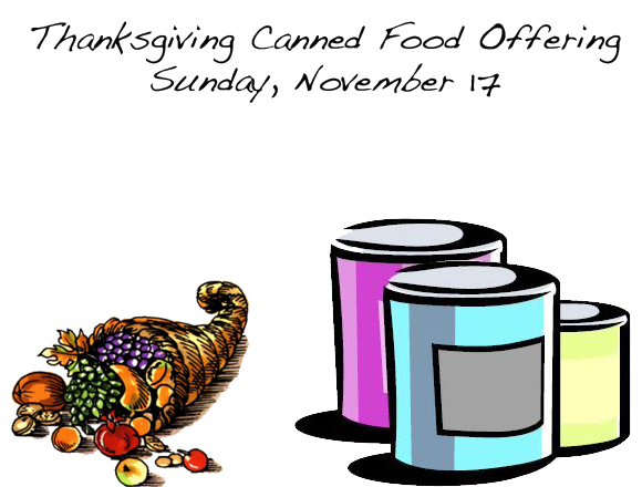 Thanksgiving Offering Sunday