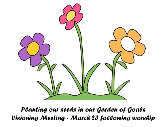 Planting our seeds in our garden of goals