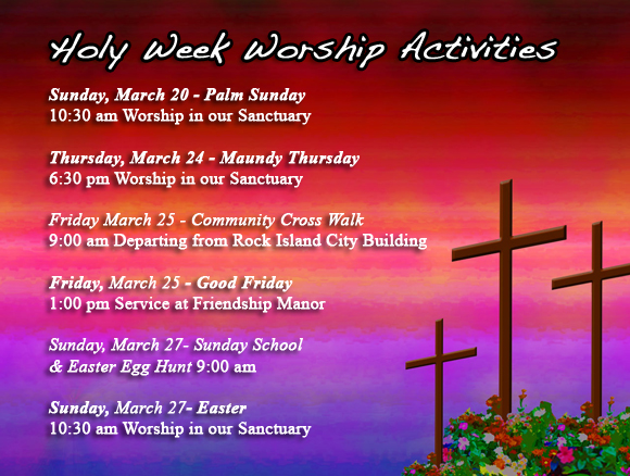 Holy Week Activities