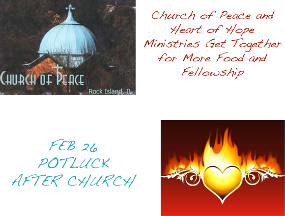 Church of Peace and Heart of Hope Ministries Get Together for More Food and Fellowship