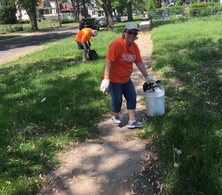 Church Members Help Clean Neighborhood