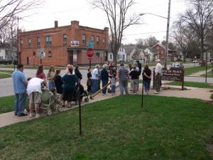 Church of Peace participates in Cross Walk