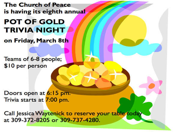Pot of Gold Trivia Night