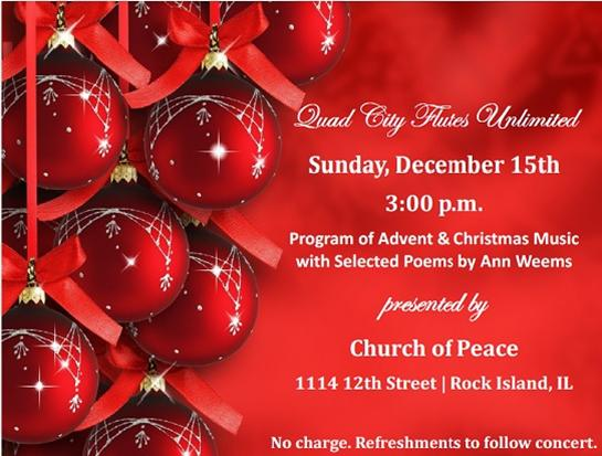 Flutes Unlimited Concert at Church of Peace