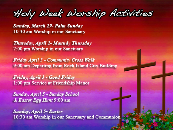 Holy Week 2015 Activities